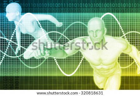 Sport Injury and Sports Recovery Research and Development - stock photo