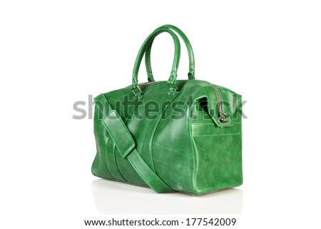 sport leather bag isolated on white background