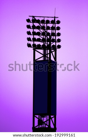 Sport light pole - stock photo