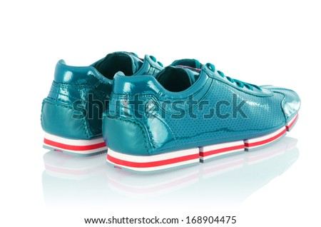 Sport males shoes isolated on white