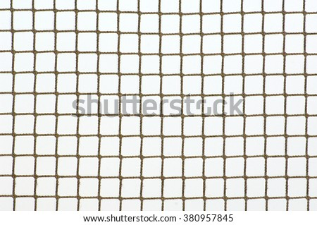 Sport net on winter snow background - stock photo