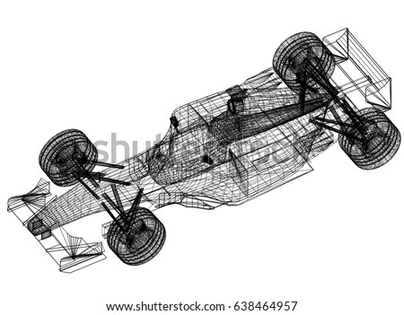 Sport race car blueprint 3 d perspective stock illustration sport race car blueprint 3 d perspective stock illustration 638464957 shutterstock malvernweather Image collections
