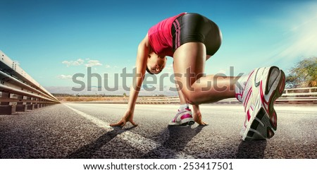 Sport.Runner - stock photo