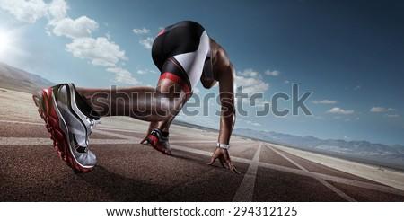 Sport. Runner - stock photo
