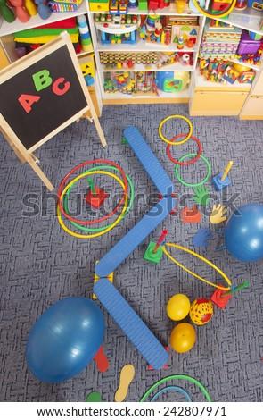 sport's room for children - stock photo