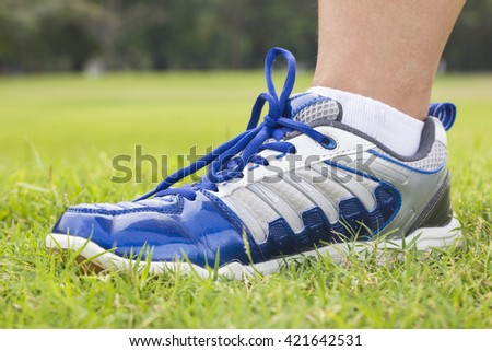 Sport shoe for running. - stock photo