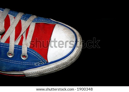 Sport Shoe Isolated On Black