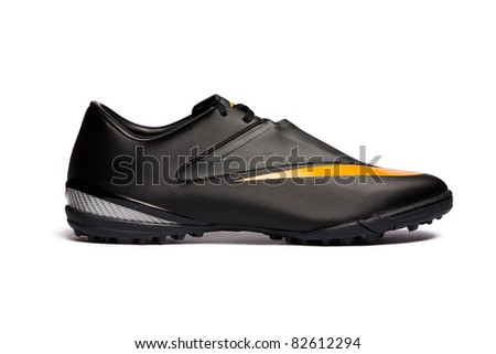 Sport shoe isolated on white background. Closeup - stock photo