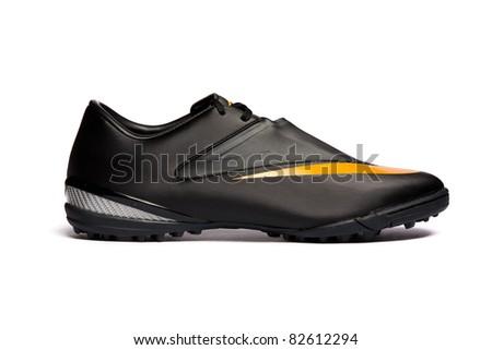 Sport shoe isolated on white background. Closeup - stock photo
