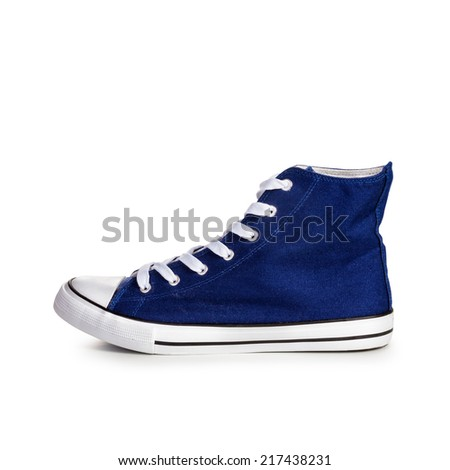 Sport shoe isolated on white background. Single object with clipping path