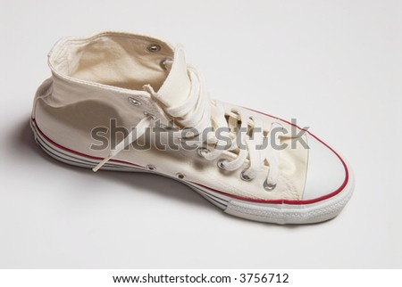 Sport shoe isolated over white background - stock photo