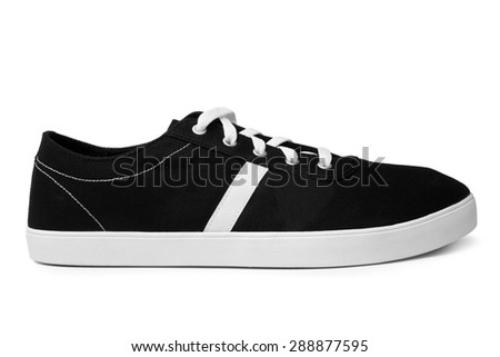 Sport shoe on white background - stock photo