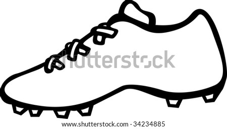 sport shoe with cleats - stock photo