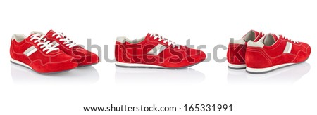 Sport shoes isolated on the white - stock photo