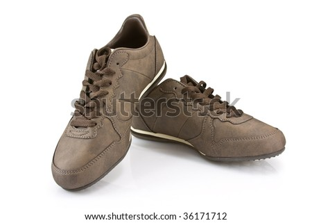 Sport shoes isolated on the white background (contains clipping path)
