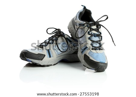 Sport shoes, isolated on white - stock photo