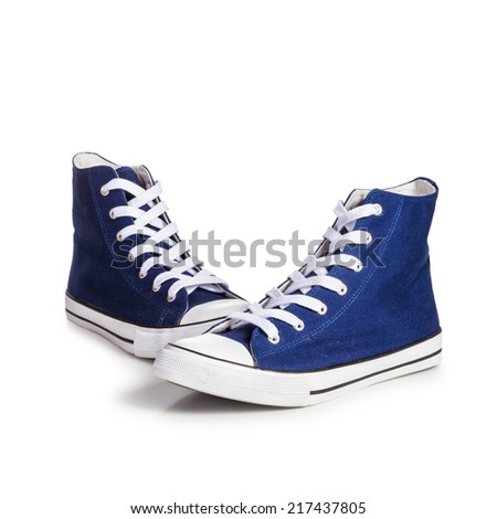 Sport shoes isolated on white background. Object with clipping path