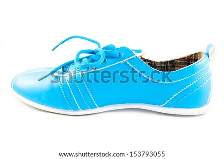 Sport shoes pair isolated on white background