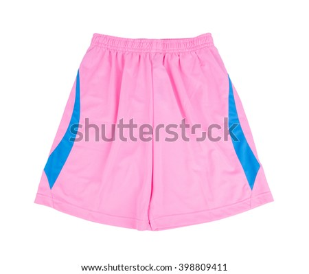 Sport shorts on a white background