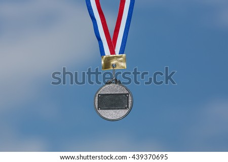 Sport silver medal - stock photo