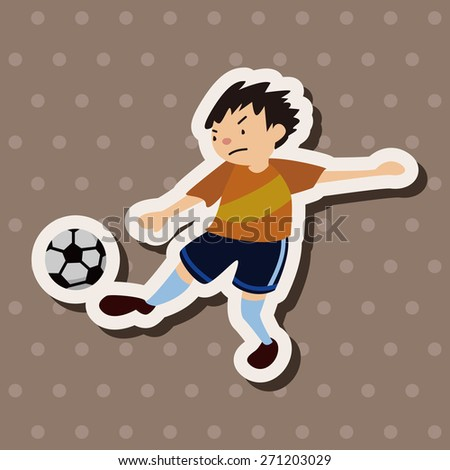 sport soccer athlete icon cartoon stickers icon