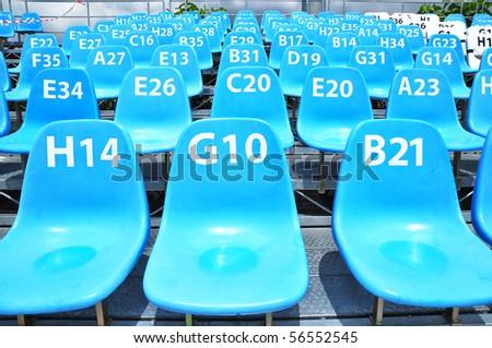 sport stadium blue - stock photo