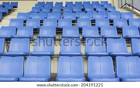 Sport stadium seat - stock photo