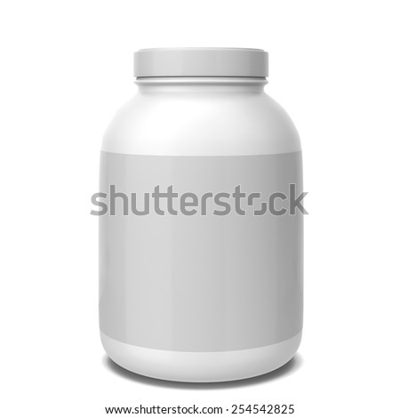 Sport supplement jar. 3d illustration isolated on white background