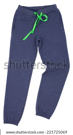 Sport sweatpants isolated on a white background. Clipping paths included. - stock photo