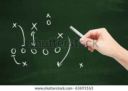 Sport tactics - stock photo