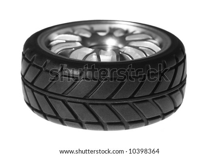 sport tire isolated on the white background - stock photo