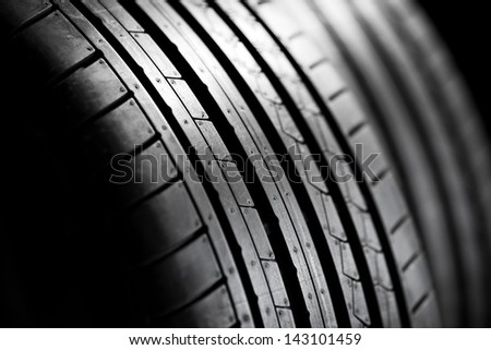 Sport tires isolated - stock photo