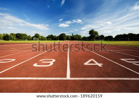 Sport track with numbers