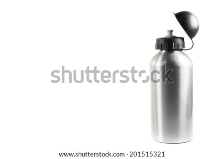 sport water bottle on a white background. - stock photo