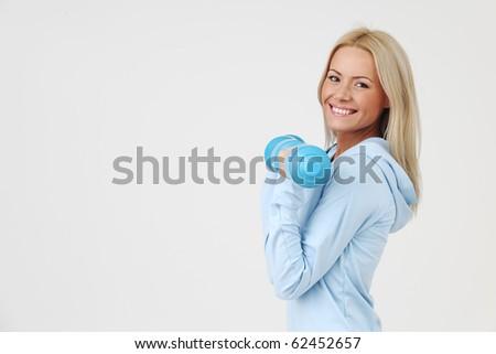sport woman - stock photo