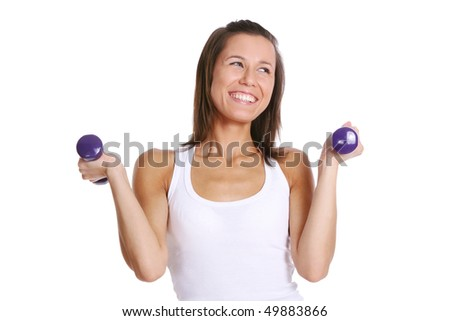 sport woman doing fitness exercisse