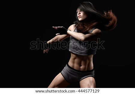 sport woman moving and fit-3d rendering