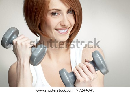 sporting girl - stock photo