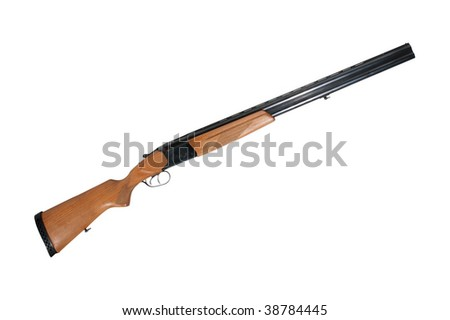 sporting gun  isolated on a white background - stock photo