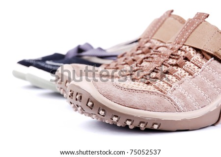 sporting shoe on a white background