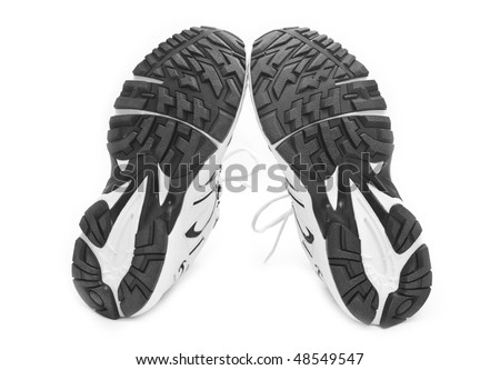 sporting shoe on a white background for your illustrations - stock photo