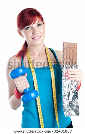 Sports and healthy eating - stock photo