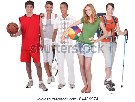 Sports and recreation - stock photo