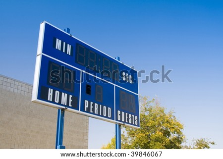 Sports arena scoreboard - stock photo