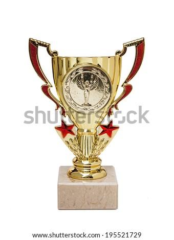 sports awards isolated on white background - stock photo