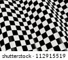 Sports background - abstract checkered flag - stock photo