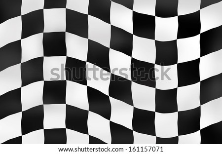 Sports background checkered flag