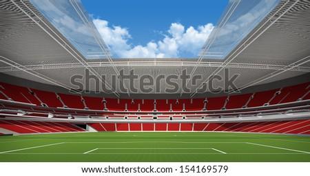 Sports background - stadium  - stock photo