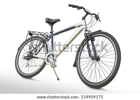 Sports bike isolated on a white background. - stock photo