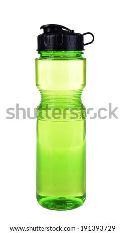 Sports bottle isolated on white - stock photo